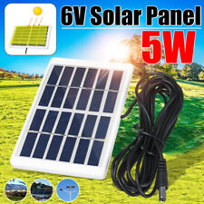 5W DC 6V Solar Panel Battery Charger Power Bank Outdoor Hiking Camping 3m Cable