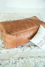 Moroccan Leather Ottoman Pouf Footstool Coffee Table