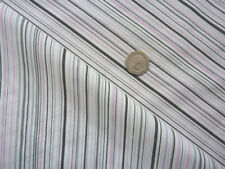 pin thick striped pink grey black off white background clothing fabric - metre