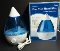Crane Drop Ultrasonic Cool Mist Humidifier Filter Free  Blue and White with Box