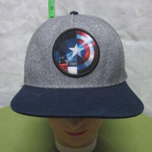 CAPTAIN AMERICA wool baseball cap Avengers shield patch hat Marvel snapback OG