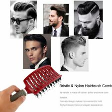 Curved Vented Boar Bristle Styling Hair Brush, for Any Hair Type Men or Women