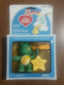 Vintage Care Bear & Star-A-Scope, Wish Bear, MIB, Kenner, 1984
