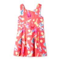 Girl's Dress OshKosh Ukulele Print Cut Out- Pink 5T
