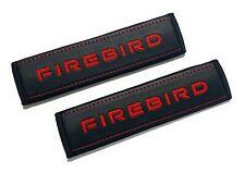 Pontiac Firebird seat belt shoulder pads Red embroidery 2pcs