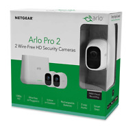 Arlo Pro 2 by NETGEAR Home Security Camera System 2 pack Wireless 1080p HD NEW