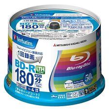 50 Verbatim AZO Blu ray BD-R LTH 25GB 4X Speed Inkjet Printable Region Free
