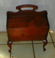 Walnut Magazine Rack or Sewing Stand  (HD162)