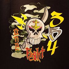 U.S. Navy Men's XL Black One Fight 354 Skull Sword T-Shirt