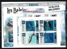 Baleines 10 blocs-feuillets différents oblitérés