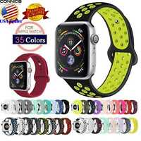 38 40 42 44MM Sport Silicone iWatch Band Strap For Apple Watch Series 5 4 3 2 1
