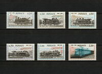 (YYAY 356) Monaco 1968 MNH Mich 896 - 901 Scott 692 - 697 Trains Locomotives
