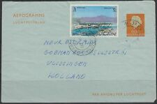 1975 UAE aerogramme airletter Netherlands, Clean Sharjah cds, unusual [bl0189]