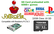 32GB SD Card with Retropie and 6,300 games preinstalled for Raspberry Pi 2 and 3