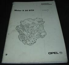 Werkstatthandbuch Opel Omega Motor X 20 DTH Technische Dokumentation 10/1997