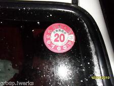 Rare JDM Genuine NEW JCI Japanese inspection parking clock decal sticker RED 24
