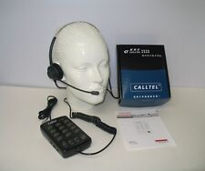 T110-H Headset Telephone with Dial Key Pad MUTE Redial Flash, Dual Training Jack