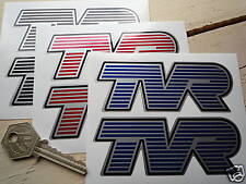 """TVR Shaped Car Stickers 4"""" Pair Race Racing Logo Griffith Tuscan Tamsin 3000E"""