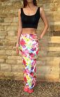 EXTRA LONG TALL Jersey Skirt MAXI Length Plain Print Size 8 10 12 14 16 18 20