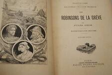 LES ROBINSONS DE LA GREVE-JULES GROS-CARTONNAGE-ILLUSTRE-PICARD