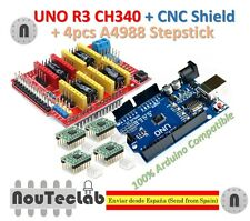 UNO R3 + CNC Shield V3 Expansion Board + 4pcs A4988 Stepper Motor Driver