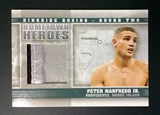 Peter Manfredo Jr Fight Worn Material Swatch Boxing Card Ringside Round 2 Hh-16