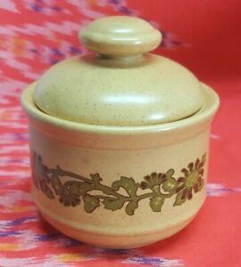 Kiln Craft Sugar Bowl With Lid Staffordshire Potteries England K8 78 THISTLE