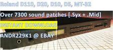Roland d110, d20, d10, d5, mt-32 - 7300+ parches Sound (. syx) - Instant descarga
