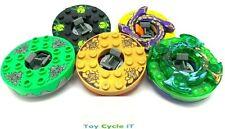 LEGO 5 x Ninjago Minifigure Spinners - Yellow Green Black Gold Trans Green - L4