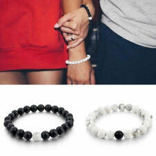 2pcs Couples His & Hers Distance Bracelet Lava Bead Matching Yinyang Lover Gift