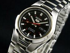 Seiko 5 Automatic Ladies Watch Black and Red Dial 21 Jewels SYMC27K1 UK Seller