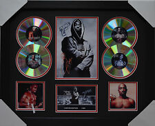 TUPAC MEMORABILIA FRAMED SIGNED LIMITED EDITION 4CD