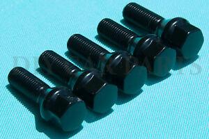 Set of 20 New Black BMW Lug Bolts Nuts 328i 428i 430i 535i 750Li 760Li X3 X5 X6