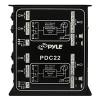 Pyle-Pro PDC22 Dual 1/4'' Instrument To Balanced  Unbalanced (1/4''/XLR) Direct