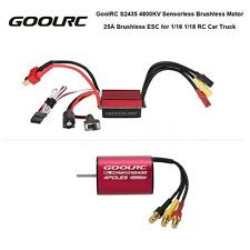 GoolRC S2435 4800KV Brushless Motor&25A ESC Combo Set for 1/18 RC A5I7