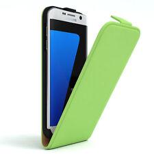 Tasche für Samsung Galaxy S7 Edge Flip Case Schutz Hülle Handy Cover Grün