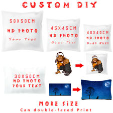 Personalised Cushion Case Throw Pillow Covers Custom Image Name Print Photo Gift