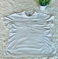 Columbia Women's White Polo Size L Large Omni Shade PFG Vented Golf Top Shirt