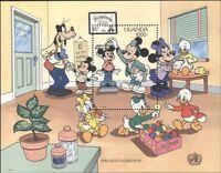 Uganda 1990 Disney/Doctors/Health/Mickey/Cartoons/Animation 1v m/s (b4165g)