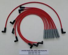 DODGE RAM 1999-2002 5.2L 318 5.9L 360 1500 2500 3500 RED 8mm Spark Plug Wires