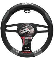 Sumex Race Sport Soft Grip Car Steering Wheel Cover - Black & Grey Carbon #MM1