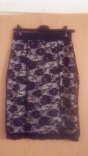 Stylish Women Black White Pencil Skirt  M/12  Elegant Occasion