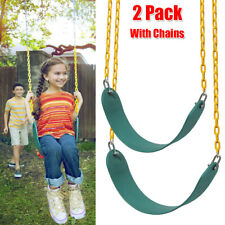 2Pack Heavy Duty Swing Seat Set Accessories Kids Outdoor With Chains Replacement