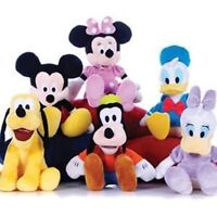 """1x Soft Mickey Mouse Minnie Donald Duck Pluto Plush Cuddly 12"""" Toy Birthday Gift"""