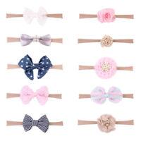 10Pcs Cute Kids Girl Baby Toddler Flower Bow Headband Hair Band Headwear Showy