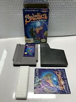 Solstice: The Quest for the Staff of Demnos (Nintendo) NES Complete In Box Cib