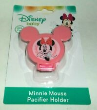 DISNEY Baby Minnie Mouse Pacifier Holder PINK #3 NIP