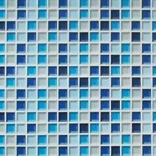 Tapete selbstklebend Mosaik Fliesen blau Fliesenspiegel Küchentapete 45x100cm