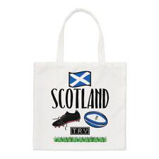 Rugby Scotland Small Tote Bag - Funny League Union Flag Shopper Shoulder