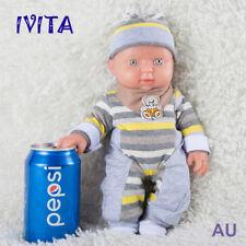 Birthday Gift IVITA 12'' Full Body Silicone Reborn Doll 1200g Cute Baby Girl Toy